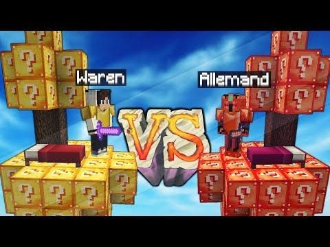 Waren Vs Le Serveur Minecraft Lucky Block Bedwars Minecraft Blocks Lucky