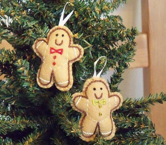 Gingerbread  Felt Ornament via Etsy.