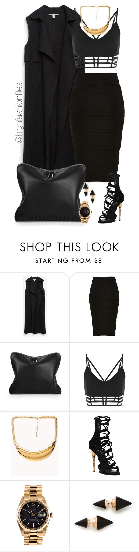 """Untitled #2188"" by highfashionfiles ❤ liked on Polyvore featuring Zara, 3.1 Phillip Lim, Forever 21, Balmain, Rolex and Vita Fede"