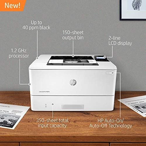 Hp Laserjet Pro M404n Monochrome Laser Printer With Built In Ethernet W1a52a Laser Printer Printer Printing Double Sided