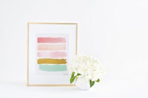 Abstract Paint Strokes Art Print