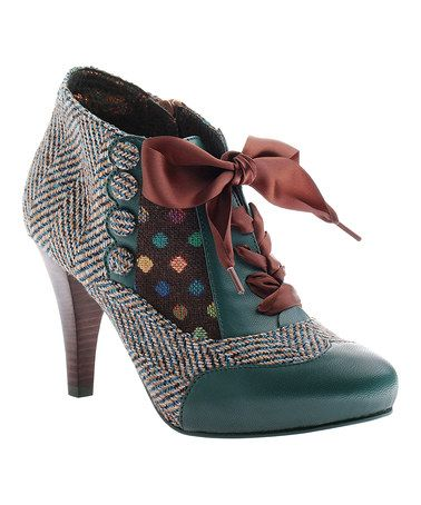 Got to have these!! Dark Teal Betsey's Buttons Bootie #zulily #zulilyfinds: