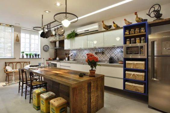 decoração rústica é uma das tendências para cozinha em 2017
