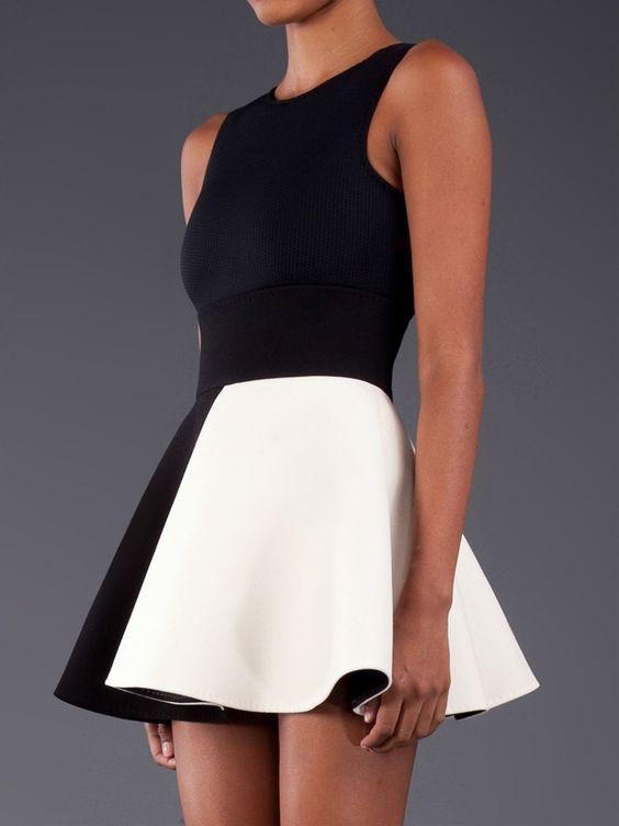 #black&white#dress