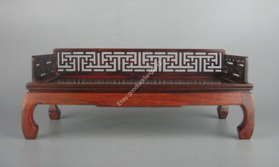 new red suan-zhi wood rosewood China Miniature luohan-bed chair shelf stand   eBay