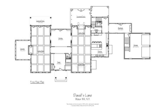 Approx 7000 sq ft first floor watermill ny real estate for 7000 sq ft house plans