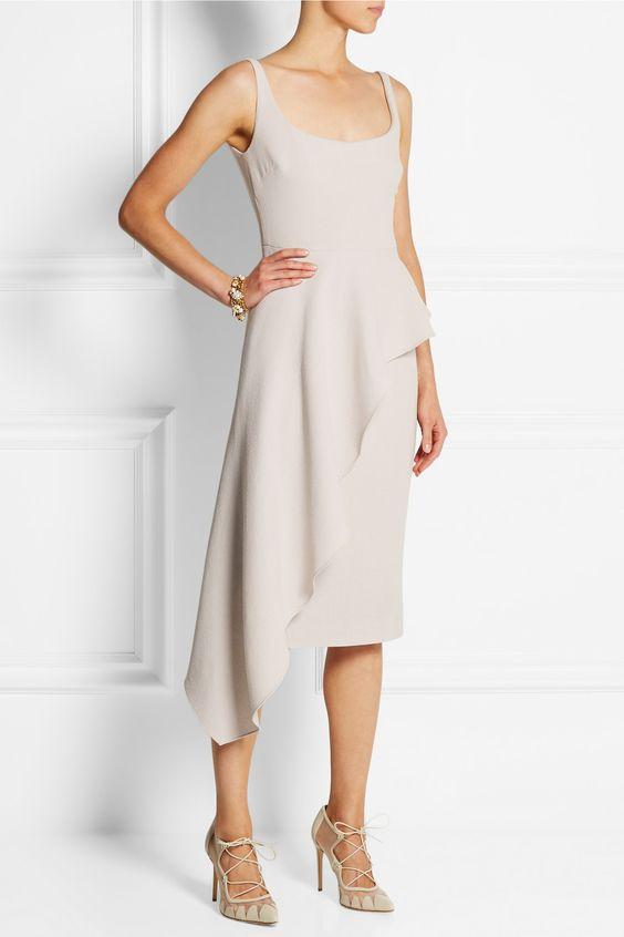 Cushnie et Ochs Asymmetric draped wool-crepe dress NET-A-PORTER.COM