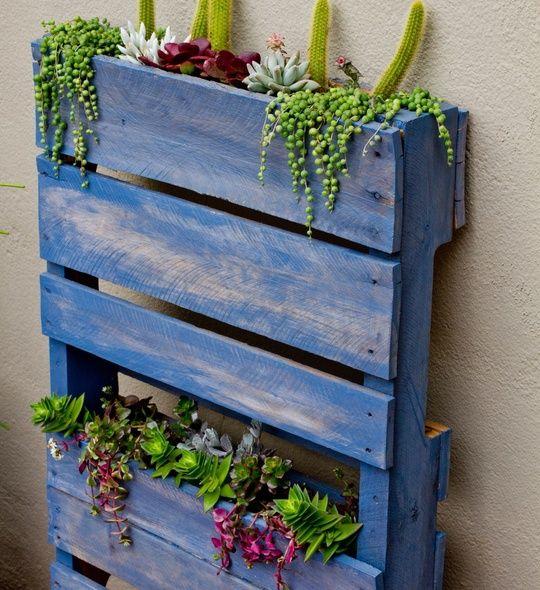How to build a vertical pallet garden recipe gardens for How to make a recycled pallet vertical garden