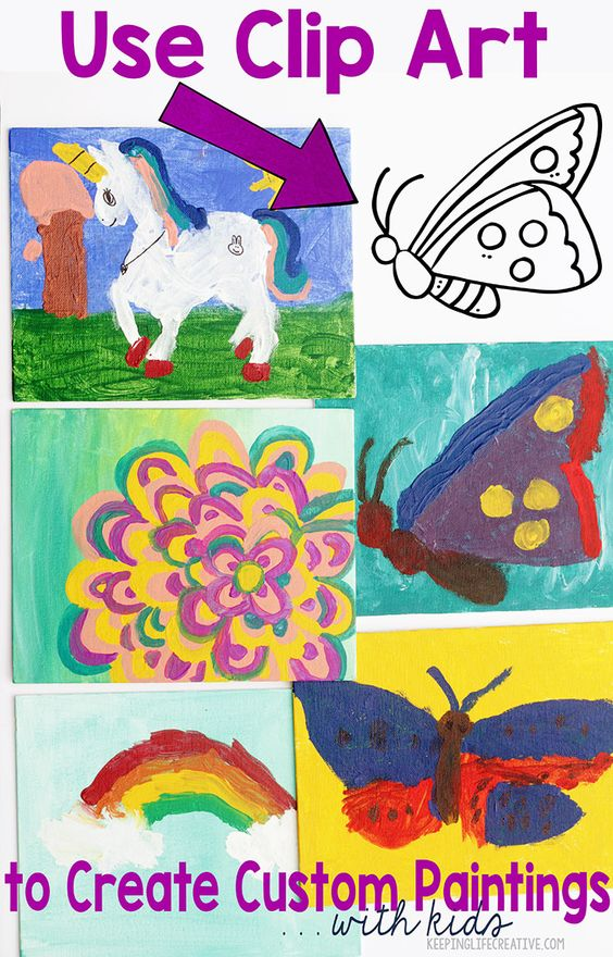 Create custom canvas paintings with your kids using clip art! Simple directions show how to create masterpieces you'll be proud to display.
