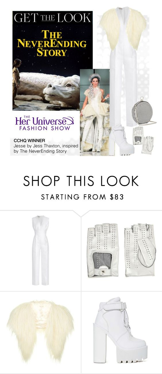 """""""Get the Look: Her Universe Fashion Show, CCHQ Winner"""" by polyvore-editorial ❤ liked on Polyvore featuring Emilia Wickstead, Causse, Topshop, Jeffrey Campbell, Halston Heritage, comiccon, HerUniverse and SDCC"""
