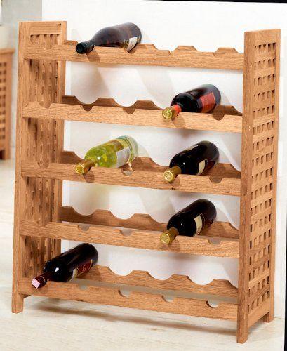 Spetebo - Botellero para 25 botellas (madera de nogal)