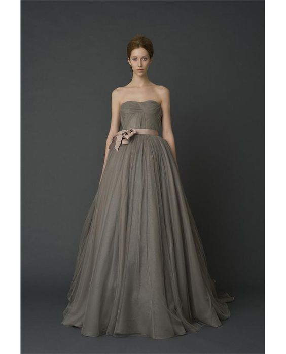 Vera Wang clearly proves wedding dresses do not have to be white.