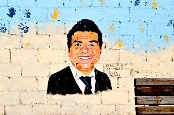 Rosarito Beach Baja California Mexico: George Lopez Mural in Rosarito