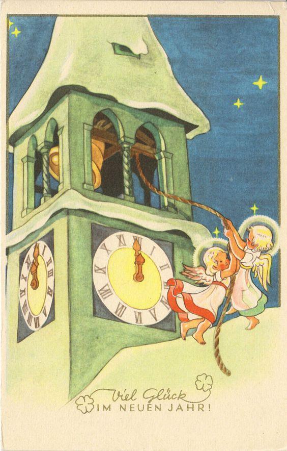 NEUJAHR - Engelchen läuten die Glocken, blanco | eBay