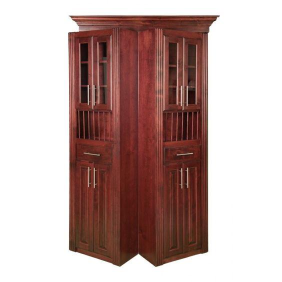 Bi Folding Cherry Surface Mount Door. For my very own secret passageway! ///cesl