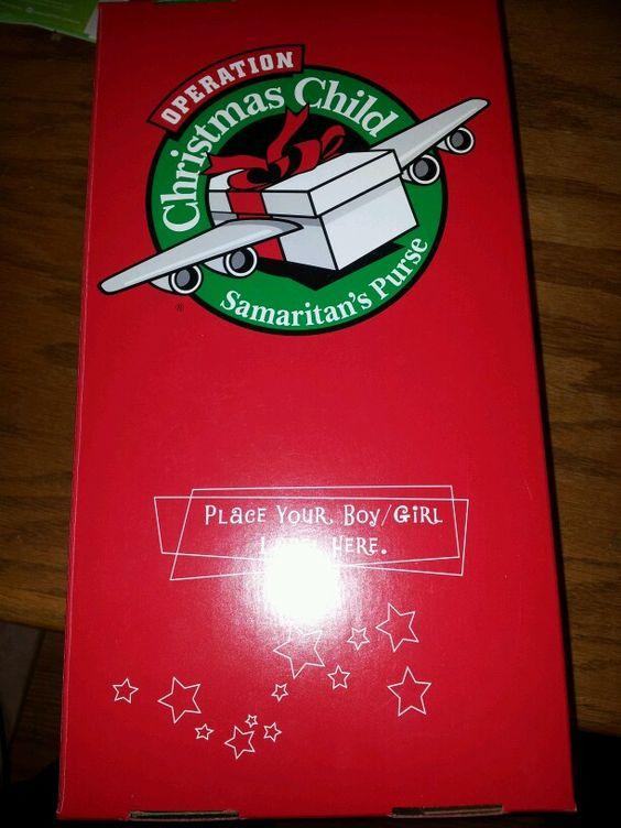 Christmas shoe box for kids