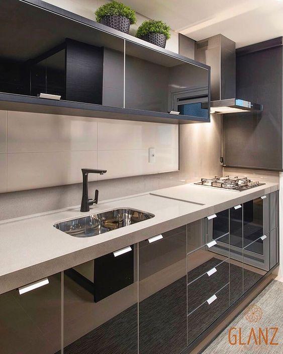 158 Curtidas 2 Comentarios Arquitetura Decoracao Projetedecor No Instagram Cozinha Linda E Elegante Em Preto Projeto Gl Ide Dapur Dapur Ide
