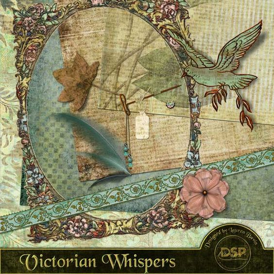 Victorian Whispers Page Kit [DL-LB-K-VictorianWhispers] - $3.99 : Digital Scrapbook Place, Inc. , High Quality Digital Scrapbook Graphics