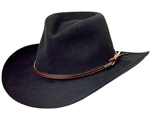 Mens or Womens Crushable Cowboy Hat 100/% Wool Stetson Style Hat Western Hat