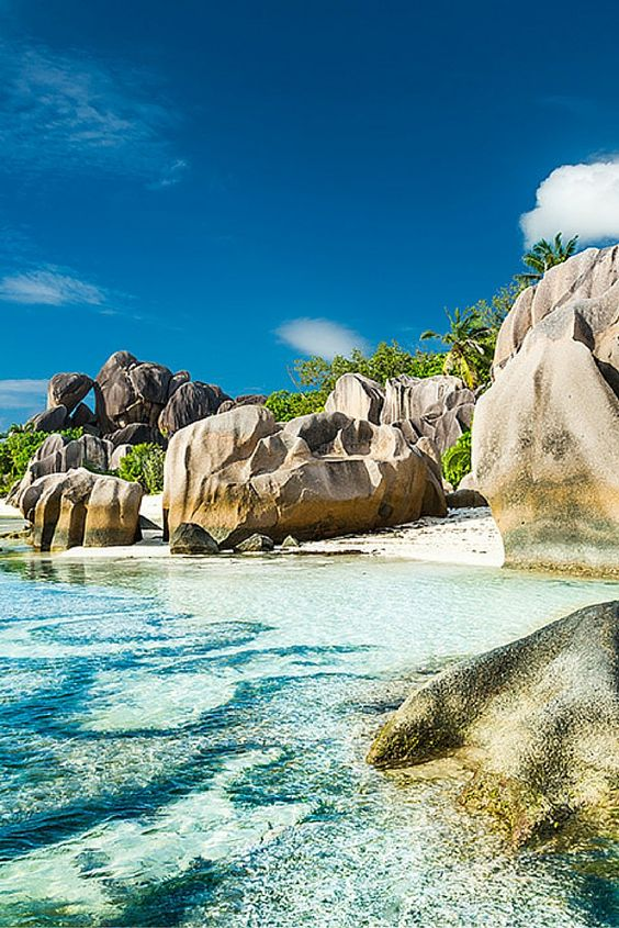 Anse Lazio, Praslin, Seychelles! Click through to see 15 more of the world's most unique & awesome beaches!