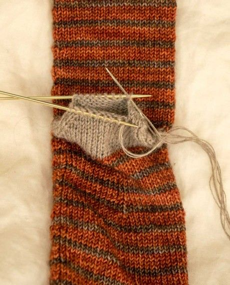Knitting Grafting Sock Toe : Double points two at a time socks free pdf hand