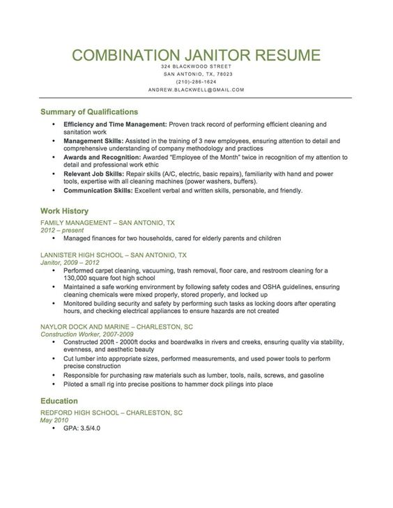 Inventory Associate and Driver Resume Sample Resume Writing - janitor sample resume