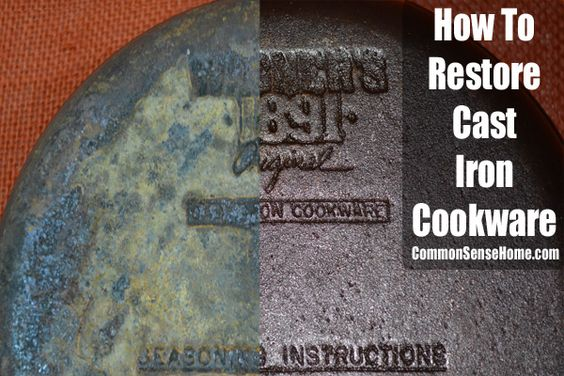 how to restore cast iron cookware back to ovens and common sense. Black Bedroom Furniture Sets. Home Design Ideas