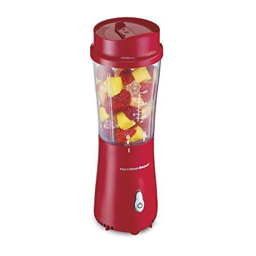 HamiltonBeach Personal Blender for Shakes and Smoothies w// 14oz Travel Cup /& Lid