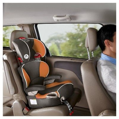Graco Affix Youth Booster Seat With Latch System Tangerine Orange Booster Car Seat Booster Seat Car Seats