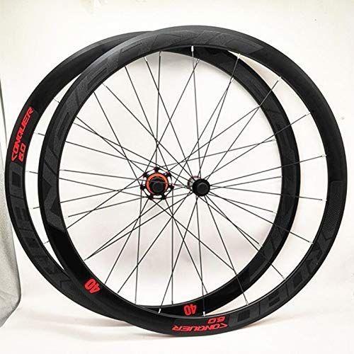 Meroca Ultra Light Aluminum Alloy 700c Road Bike Wheelset 40mm Rim Sealed Bearing Carbon Fiber Hub Colorful Reflective Wheel Set Re Carbon Fiber Road Bike Bike