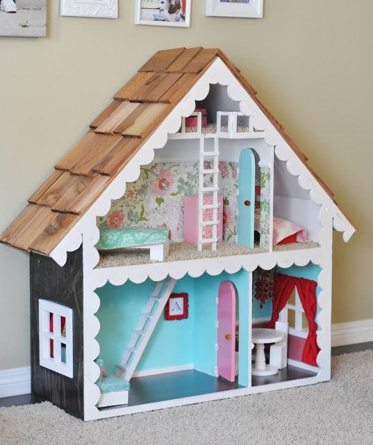 Handmade doll house for barbie doll stuff pinterest for Young house love dollhouse