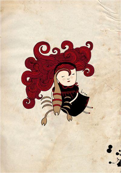 Scorpio girl Art Print