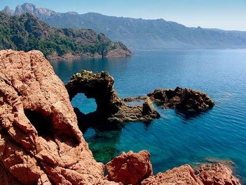 Bonifacio ancient town south Corsica