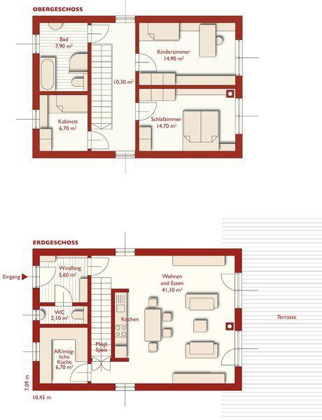 grundrisse 110 primo unsere h user im berblick. Black Bedroom Furniture Sets. Home Design Ideas