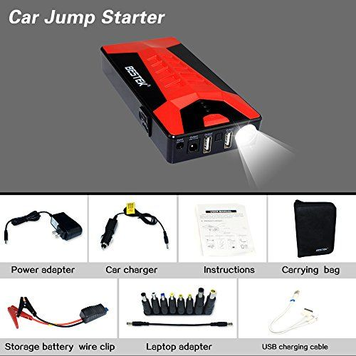 Pinterest the worlds catalog of ideas bestek portable car jump starter and external battery charger with capacity and 2 usb charging ports emergency auto jump starter for truck van suv sciox Images
