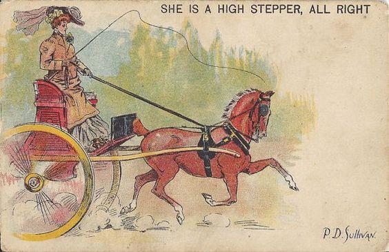 High Steppers  Vintage 1900s UDB Artistsigned by AllHorseVintage
