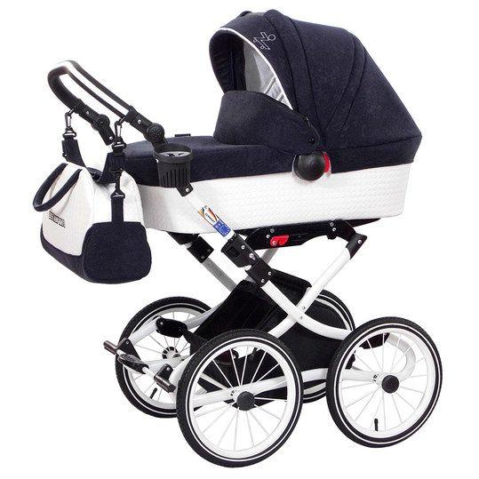 Schicker Kinderwagen im Retro-Look mit vielen Extras. Ab der Geburt geeignet.