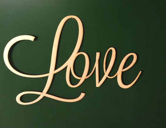 Large 24 inch Unpainted Wooden Love  Wood by RepurposedShine