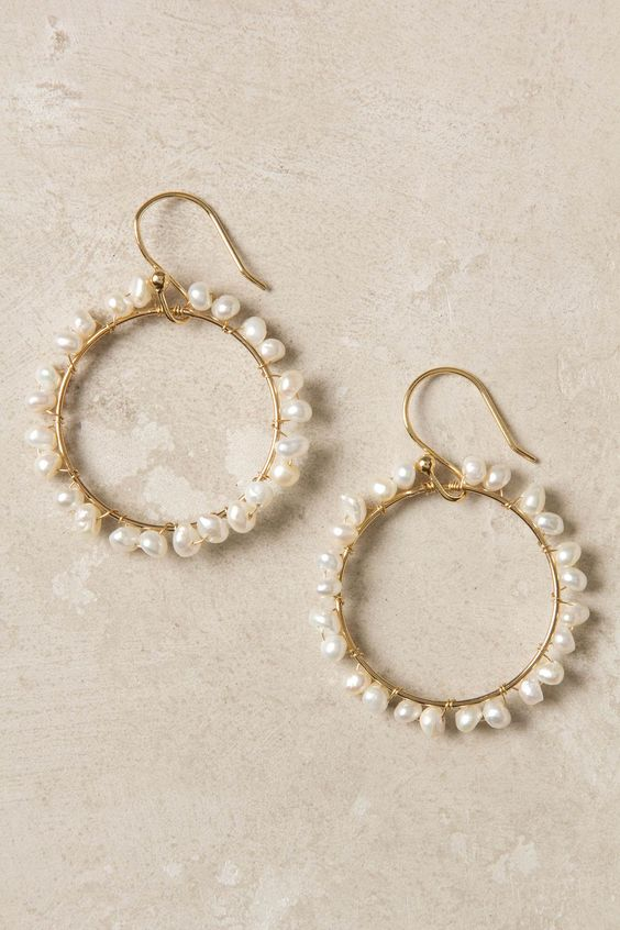 I'm pretty I can make these earrings from Anthropologie