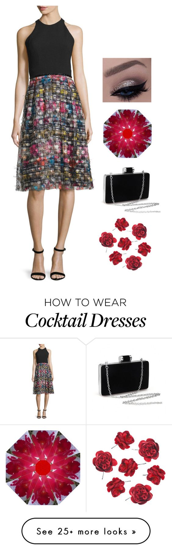 """Evening wear for when you're tired of all black"" by northcoastcottagejewelry on Polyvore featuring Carmen Marc Valvo"