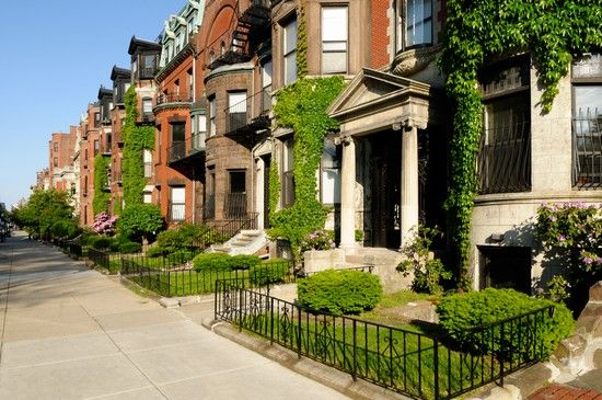 Back Bay part of Boston ... absolutely gorgeous area, with its old Victorian-style brownstones and shopping ...