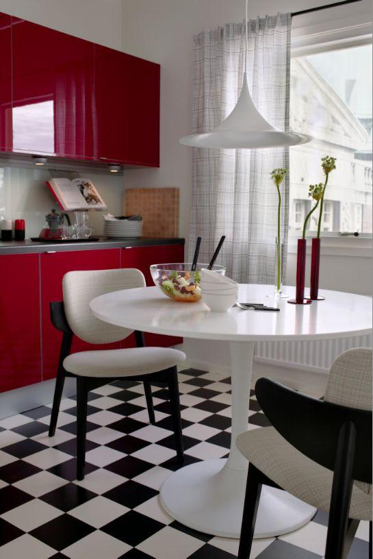 Cocina ikea, gabinetes rojos and cocina roja on pinterest