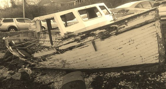 """Port Appin Boat wreck, Maybe Called """"La Hors"""""""