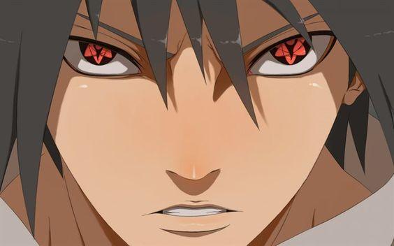 Scarica sfondi Sasuke Uchiha, gli occhi rossi, Rogna Sharingan Eterno, manga, Naruto