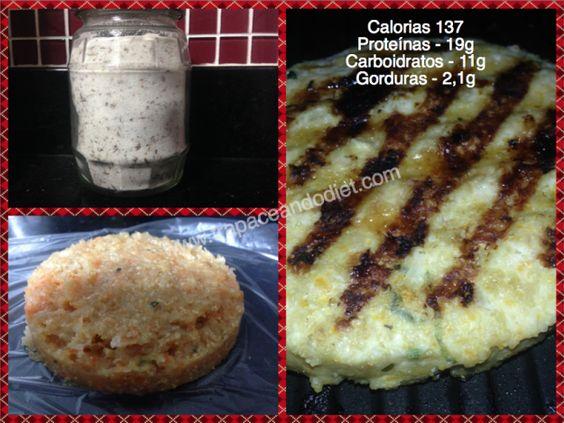Hambúrguer de frango e sal de ervas