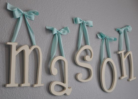 Wooden hanging letters made by New Arrivals Inc | http://www.newarrivalsinc.com/Hanging-Wooden-Letters_p_2022.html