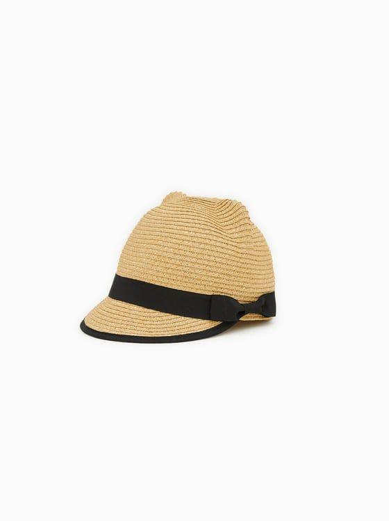 Zara Kids Straw Hat With Ears