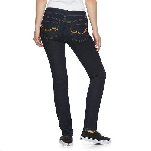 Juniors' SO Perfectly Soft Embroidered Skinny Jeans