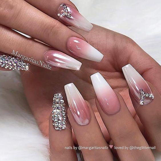 600pcs Bag Ballerina Nail Art Tips Transparent Natural False Coffin N Ostty Weddingnails Ballerina Nails Designs Gold Glitter Nails Ballerina Nails