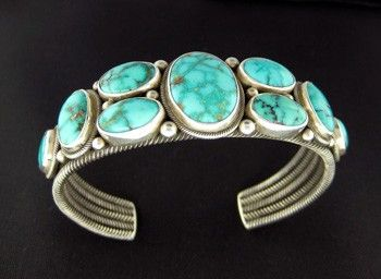 Perry Shorty Sterling Silver Cuff Bracelet.   http://www.leotasindianart.com/    #nativeamericanjewelry    #turquoisejewelry: